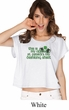St Patricks Day Official Drinking Shirt Ladies Boxy Tee