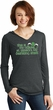 St Patricks Day Official Drinking Shirt Ladies Tri Long Sleeve Hoodie