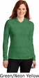 St Patricks Day Shamrock Patch Bottom Print Ladies Hooded Shirt