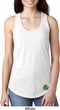 St Patricks Day Shamrock Patch Bottom Print Ladies Ideal Tank Top