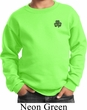 St Patricks Day Shamrock Patch Pocket Print Kids Sweatshirt