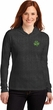 St Patricks Day Shamrock Patch Pocket Print Ladies Hooded Shirt