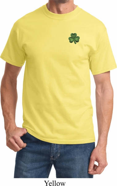 3c65ce605bccc St Patricks Day Shamrock Patch Pocket Print T-shirt - St Patricks ...