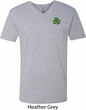 St Patricks Day Shamrock Patch Pocket Print V-neck