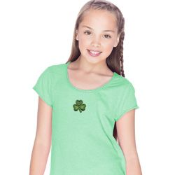 St Patricks Day Shamrock Patch Small Print Shirts