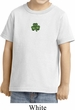 St Patricks Day Shamrock Patch Small Print Toddler T-shirt