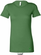 St Patricks Day Shamrock Sequins Bottom Print Ladies Longer Length Tee