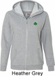 St Patricks Day Shamrock Sequins Pocket Print Ladies Full Zip Hoodie
