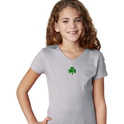 St Patricks Day Shamrock Sequins Small Print Shirts