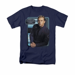 Star Trek - Enterprise Shirt Trip Tucker Adult Navy Tee T-Shirt