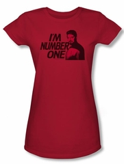 Star Trek Juniors Shirt Im Number One Red Tee T-Shirt