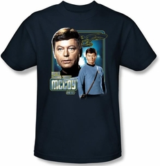 Star Trek Kids T-shirt - Doctor Mccoy Bones Youth Navy Tee