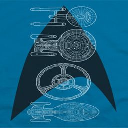 Star Trek Line Of Ships Shirts