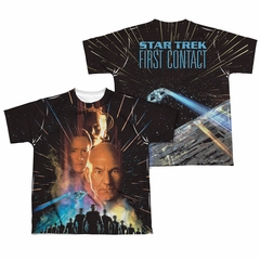 Star Trek - Movies Fist Contact Poster Sublimation Kids Shirt Front/Back Print