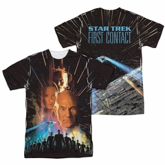 Star Trek - Movies Fist Contact Poster Sublimation Shirt Front/Back Print