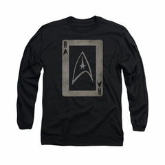 Star Trek Shirt Ace Long Sleeve Black Tee T-Shirt