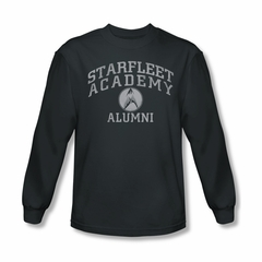 Star Trek Shirt Alumni Long Sleeve Charcoal Tee T-Shirt