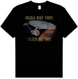 Star Trek Shirt - Boldly Did That Adult Black Trekkie