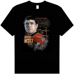 Star Trek Shirt - Chief Engineer Scott Adult Black