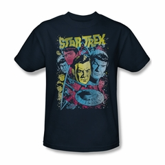 Star Trek Shirt Comic Illustration Navy T-Shirt