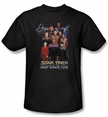 Star Trek Shirt Ds9 Crew Adult Black Tee T-Shirt