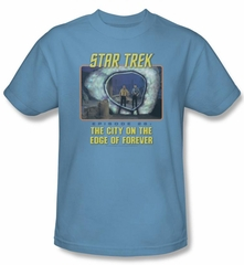 Star Trek Shirt Edge Of Forever Adult Carolina Blue Tee T-Shirt