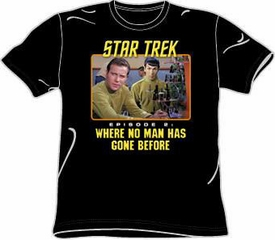 Star Trek Shirt Episode 2 Where No Man Has Gone Before Black Tee