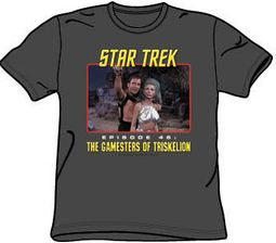 Star Trek Shirt - Episode 46 Gamesters Of Triskelion Adult Charcoal