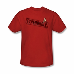 Star Trek Shirt Expendable Red T-Shirt