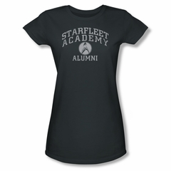 Star Trek Shirt Juniors Alumni Charcoal T-Shirt