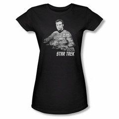 Star Trek Shirt Juniors Kirk Words Black T-Shirt