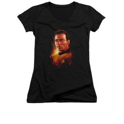 Star Trek Shirt Juniors V Neck Epic Kirk Black T-Shirt