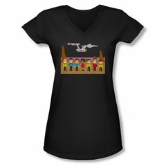 Star Trek Shirt Juniors V Neck Tos Trexel Crew Black T-Shirt