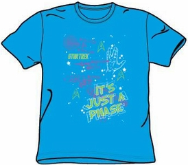 Star Trek Shirt - Just A Phase Adult Turquoise