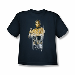 Star Trek Shirt Kids Beam Me Up Navy T-Shirt