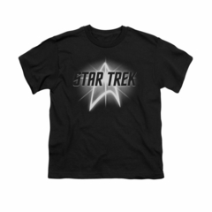 Star Trek Shirt Kids Glow Logo Black T-Shirt