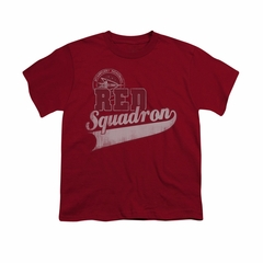 Star Trek Shirt Kids Red Squadron Sports Logo Cardinal T-Shirt