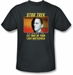 Star Trek Shirt Last Battlefield Adult Charcoal Tee T-Shirt