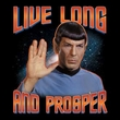Star Trek Shirt Live Long And Prosper Adult Black Tee T-Shirt