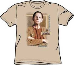 Star Trek Shirt - ODO Deep Space Nine Adult Sand