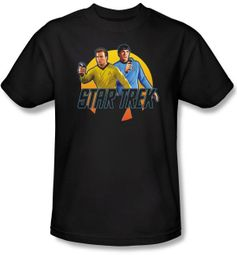 Star Trek Shirt - Phasers Ready Kirk Spock Black Tee