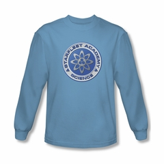 Star Trek Shirt Science Long Sleeve Carolina Blue Tee T-Shirt