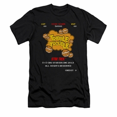 Star Trek Shirt Slim Fit Tribble Trouble Arcade Black T-Shirt