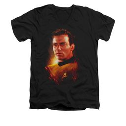 Star Trek Shirt Slim Fit V-Neck Epic Kirk Black T-Shirt