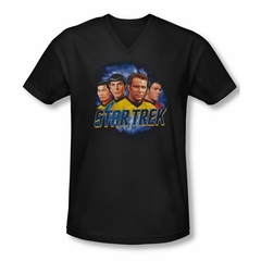 Star Trek Shirt Slim Fit V-Neck The Boys Black T-Shirt