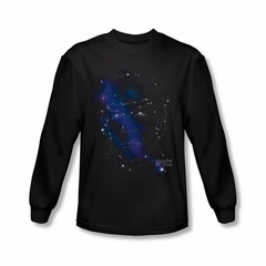 Star Trek Shirt Spock Constellation Long Sleeve Black Tee T-Shirt