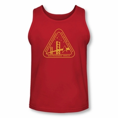 Star Trek Shirt Tank Top Academy Logo Red Tanktop