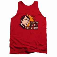 Star Trek Shirt Tank Top All She's Got Red Tanktop