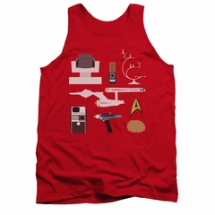Star Trek Shirt Tank Top Gift Set Red Tanktop