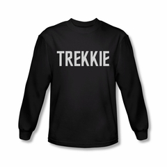 Star Trek Shirt Trekkie Long Sleeve Black Tee T-Shirt